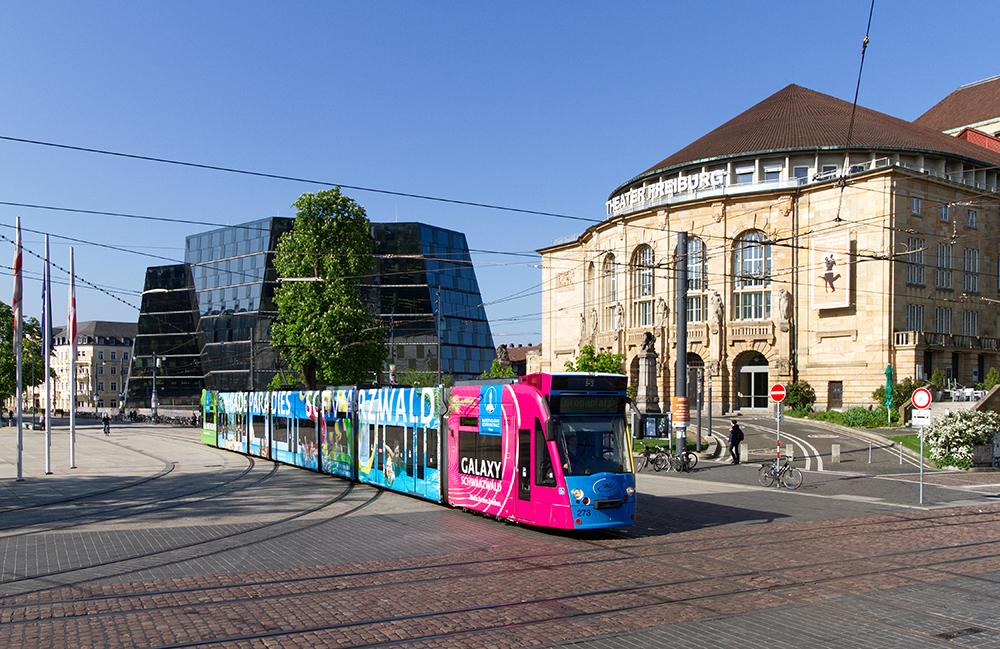 Straßenbahn Freiburg Platz der Alten Synagoge